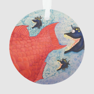 Whimsical ornaments keepsake ornaments zazzle for Fish with attitude 2