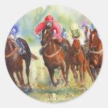 The Chase Round Sticker