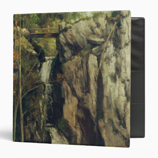 The Chasm at Conches, 1864 3 Ring Binder