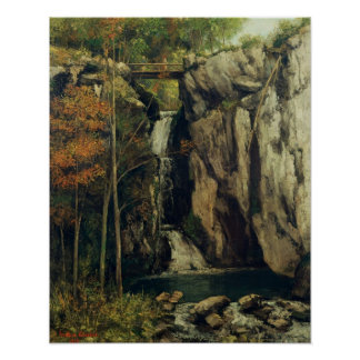 The Chasm at Conches, 1864 Poster