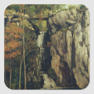 The Chasm at Conches, 1864 Square Sticker