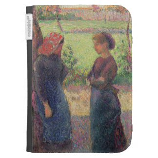 The Chat c 1892 oil on canvas Case For Kindle
