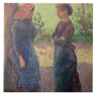 The Chat, c.1892 (oil on canvas) Tiles