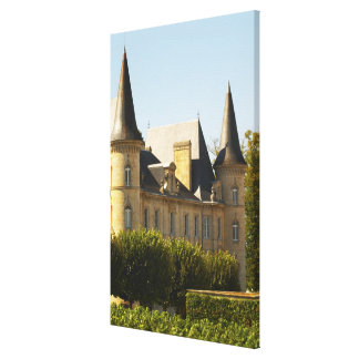 The Chateau Baron Pichon Longueville in Gallery Wrapped Canvas