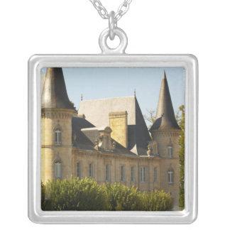 The Chateau Baron Pichon Longueville in Square Pendant Necklace