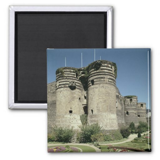 The Chateau d'Angers, completed 1238 2 Inch Square Magnet