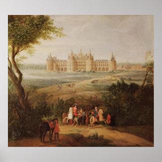The Chateau de Chambord, 1722 Poster