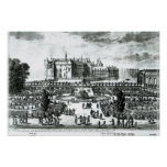 The Chateau de Chantilly and the gardens designed Poster