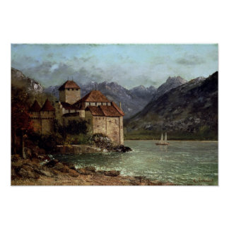 The Chateau de Chillon, 1875 Poster