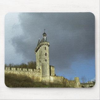 The Chateau de Chinon castletheis on a hilltop Mouse Pad