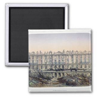 The Chateau de Meudon Bombarded 2 Inch Square Magnet