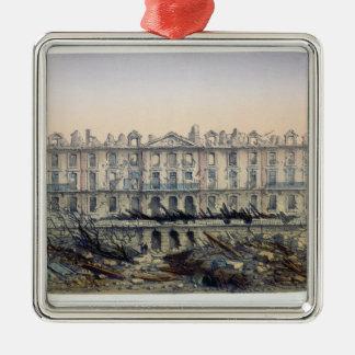 The Chateau de Meudon Bombarded Metal Ornament