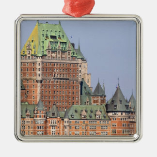 The Chateau Frontenac in Quebec City, Canada. Square Metal Christmas Ornament