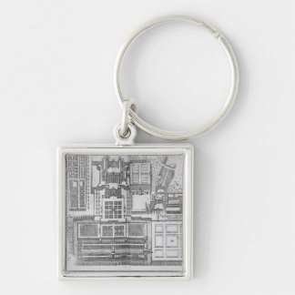 The Chateau, gardens and part of the park at Verne Keychain