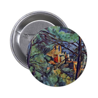 """The Chateau Noir """"Behind Trees"""" By Paul Cézanne Buttons"""