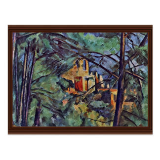 "The Chateau Noir ""Behind Trees"" By Paul Cézanne Postcard"