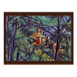 "The Chateau Noir ""Behind Trees"" By Paul Cézanne Postcard"