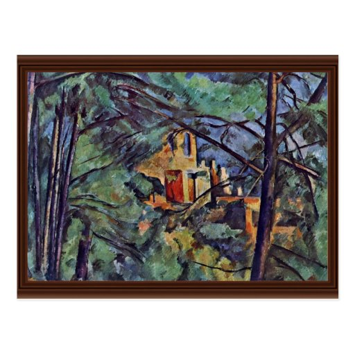 "The Chateau Noir ""Behind Trees"" By Paul Cézanne Postcards"