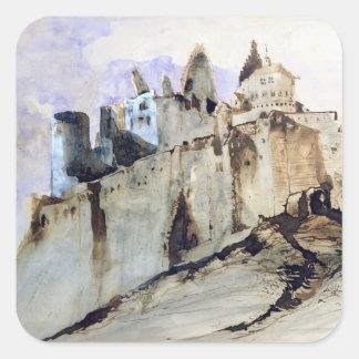 The Chateau of Vianden, 1871 Square Sticker