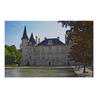 The Chateau Pichon Longueville Baron and pond Print