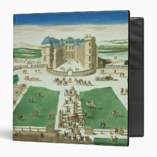 The Chateau Rambouillet, engraved by Antoine Aveli 3 Ring Binder