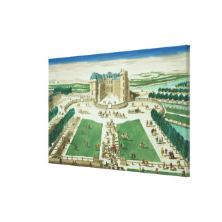 The Chateau Rambouillet, engraved by Antoine Aveli Canvas Print
