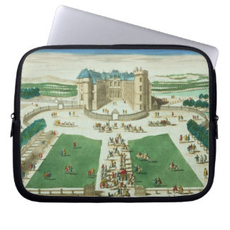 The Chateau Rambouillet, engraved by Antoine Aveli Laptop Sleeves