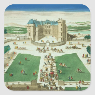 The Chateau Rambouillet, engraved by Antoine Aveli Square Sticker