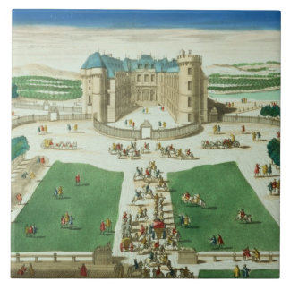 The Chateau Rambouillet, engraved by Antoine Aveli Tile