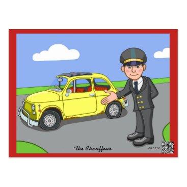 cloudsendgallery The Chauffeur Postcard