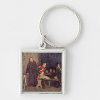 The Cheat (oil on canvas) (one of pair - See 19572 Keychain