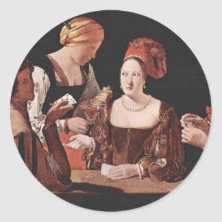 The Cheat (with the Ace of Diamonds) - 1635 Classic Round Sticker