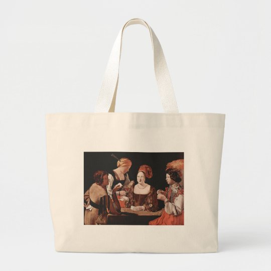 The Cheat (with the Ace of Diamonds) - 1635 Large Tote Bag