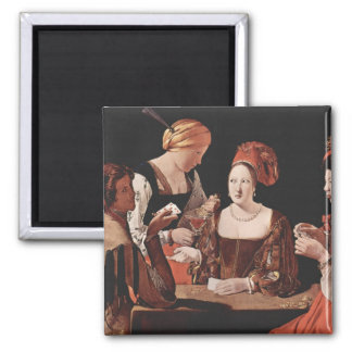 The Cheat (with the Ace of Diamonds) - 1635 2 Inch Square Magnet