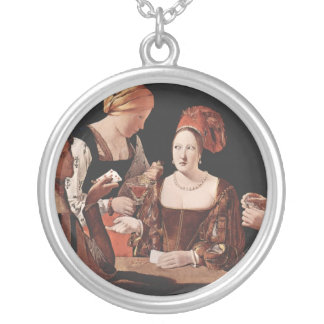 The Cheat (with the Ace of Diamonds) - 1635 Round Pendant Necklace