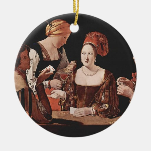 The Cheat (with the Ace of Diamonds) - 1635 Double-Sided Ceramic Round Christmas Ornament
