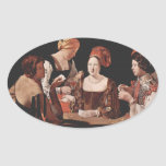 The Cheat (with the Ace of Diamonds) - 1635 Oval Sticker