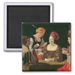 The Cheat with the Ace of Diamonds 2 Inch Square Magnet