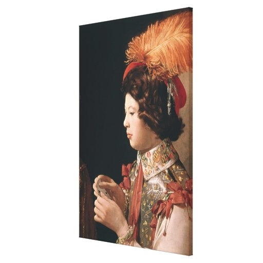 The Cheat with the Ace of Diamonds Canvas Print