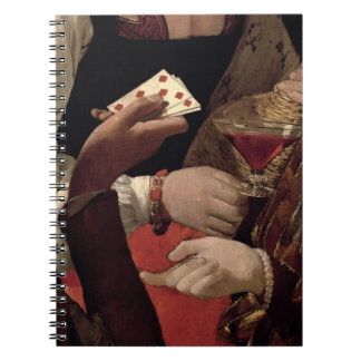 The Cheat with the Ace of Diamonds, detail of the Spiral Notebook