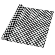 The Checker Flag Wrapping Paper
