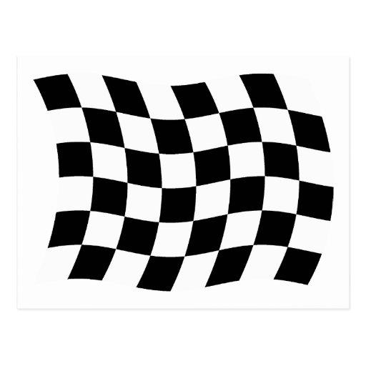 The Checkered Flag Postcard