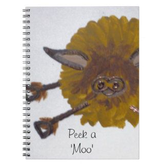 The cheeky Highland Cow Notebook