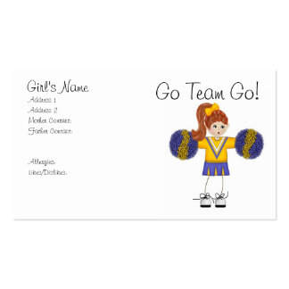 The Cheerleader Mommy Cards Double-Sided Standard Business Cards (Pack Of 100)