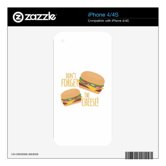 The Cheese iPhone 4 Decals