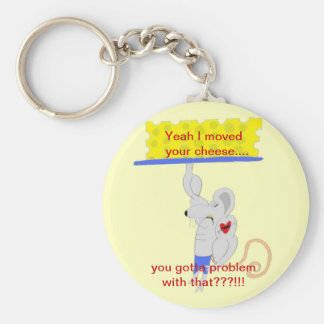 The Cheese Mover products Keychain