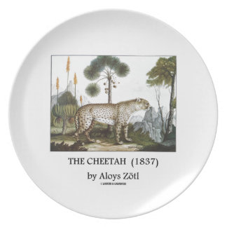 The Cheetah (1837) by Aloys Zötl Melamine Plate