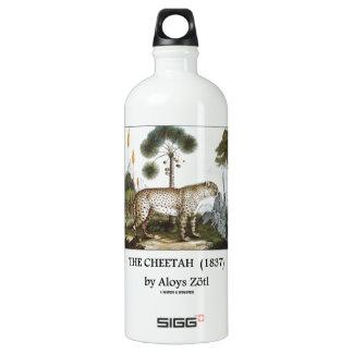 The Cheetah (1837) by Aloys Zötl Water Bottle