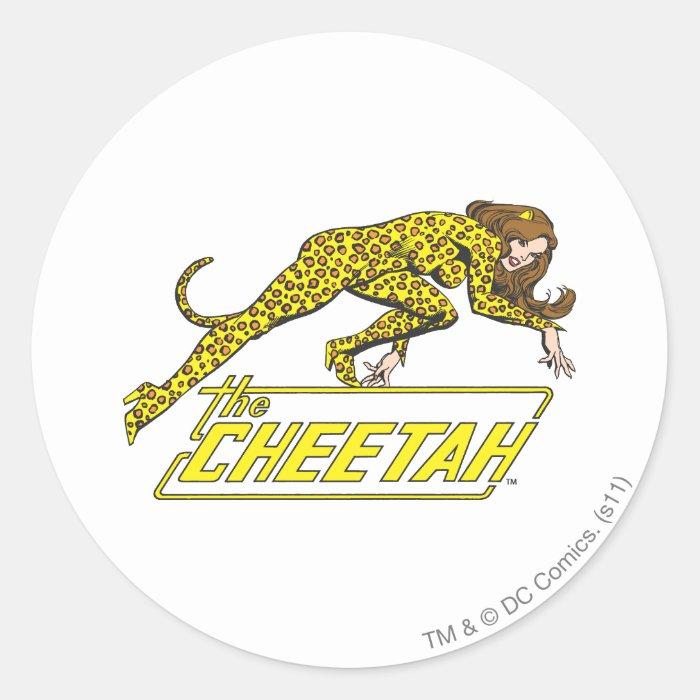 The Cheetah Classic Round Sticker