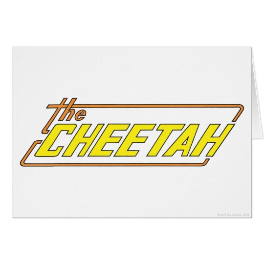 The Cheetah Logo Card
